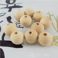 Wholesale mm White Wooden cute round Spacer beads Fit Children Handmake DIY Accessory JG