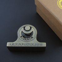 antique moulding - Existing Mould Triangle Metal Desktop Price Tag Holder Stand Antique Brass Business Name Card Holder Base
