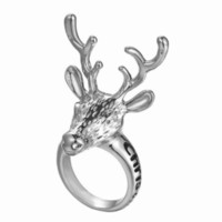 animal chip - Hot sale Christmas gift Ring Chip Jewelry Deer New Christmas Ornaments Band Rings with Bell Creative Simple Style Lettering Merry Chris