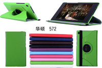 Wholesale 360 Degree Rotation PU Leather Case Folio Pouch Cover Stand for ASUS MeMO Pad ME572 size