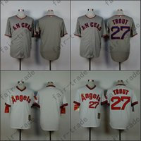 angels throwback jerseys - Los Angeles Angels Jersey Mike Trout Jersey White Grey Turn Back Style Angels Throwback Baseball Jersey