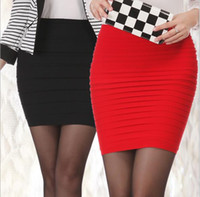 Wholesale Cheapest New Fashion Summer style Women Skirts High Waist Candy Color Plus Size Elastic Pleated Short Skirt