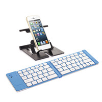 Wholesale Hot Wireless Bluetooth Foldable Folding mini Keyboard for iPhone g gs s iPad