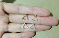 Wholesale 10Pair S015 Gold Silver Tiny Hollow Triangle Stud Earrings Open Line Triangle Stud Earrings Geometric Jewelry for Women