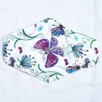 Wholesale 1 quot CHARCOAL Bamboo Butterfly Cloth Menstrual Sanitary Maternity Mama Pads Reusable Washable Regular Light Flow