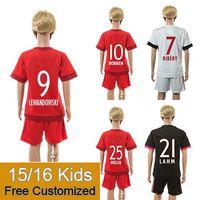 kids jerseys - Kids Baym Jersey Red White Black RIBERY LEWANDOWSKI ROBBEN MULLER SCHWEINSTEIGER Soccer Jerseys Youth Kits Shirts Shorts