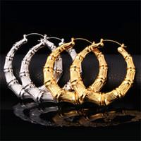 gold basketball hoop diameter - Big Size Diameter MM Hoop Earrings For Women New Fashion K Real Gold Plated Novel Design Basketball Wives Earrings E664
