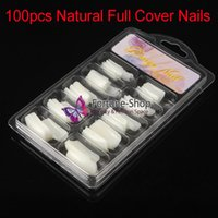artificial blisters - x New Full Cover Natural False Nails Acrylic Artificial False French Blister Packaging Fake Nail Art Tips With Box YWH019