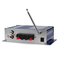 2pcs / lot HY-400 12V Digital Car Car Audio Display Power Amplificador Soporte de tarjetas USB / SD de DVD del coche de entrada con CEC_827 Control Remoto