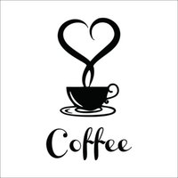 art coffee shop - Coffee Cup Vinyl Wall Sticker Coffee shop Restaurant wall decor decals Kitchen Decoration