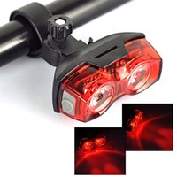 Wholesale Super bright LED Bicycle Taillight red laser warning riding front flash light Good Bike Accessories in Dark Night bike light cycle lights