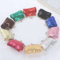 Wholesale New fashion silvery mini women girl paillette Coin purse money wallet burse coin purse