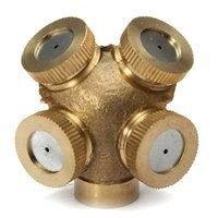agricultural irrigation equipment - Misting Nozzle Holes Brass DN15 Sprayer Sprinklers Durable Easy Install For Gardening Agricultural Lawn Irrigation Equipment