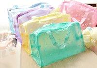 Viagem de plástico transparente Zipper Cosmetic compo sacos de higiene Kits Wash Saco de zip bx108 Frete grátis