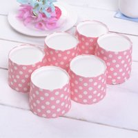 cupcake - Factory Girls Birthday And Wedding Cupcake Tools Blue Colorful Polka Dot Design Paper Cupcake Cases