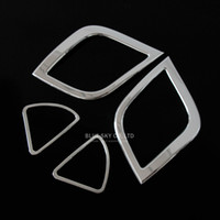 Wholesale Brand new For Hyundai Solaris Verna trim accessories ABS Chrome trim interior outlet decoration ring for vena