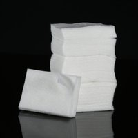 Wholesale 325Pcs pack Soft Nail Polish Remover Clean Wipe Cotton White Lint Free Nail art Wipes Cotton H14263