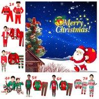 Санта костюмы Цены-DHL Рождество Санта футболка + брюки 2шт Подходит Мальчики весна осень пижамы набор детей Одежда Set Рождественский подарок