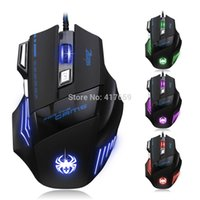 Wholesale 5500 DPI Button LED Optical USB Wired Gaming Mouse Mice For Pro Laptop Gamer Computer Accessories