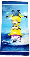 beah towels - high quality color kid cotton printed minnions beah towels robes minions bathing towel Despicable Me Shower Gym Fitness Camping Towe
