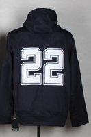 Wholesale Cowboys Emmitt Smith Navy Blue Pullover Hooded Sweatshirt Football Elite Men Women Youth Kids Stitched Jersey Size Drop Shipping