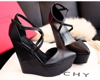 Wholesale Europe and the United States pointed high heeled platform shoes sponge with nightclub high heeled shoes women s shoes waterproof single shoe