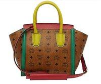 handbags usa - Europe and USA women bag MCM new handbag casual satchel printing split color collision smiley package tote bag