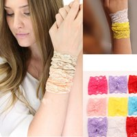 asian dress pattern - 2015 fashion European American pop strap bracelet cuff multicolor sexy women lace Pattern bangle hair rope match wedding dresses