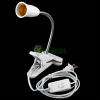 Wholesale New Flexible E27 LED Lamp Holder On off Switch Cm Power Cable Cord w Clip