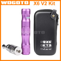 Cheap Kamry X6 V2 Kit Variable Voltage Battery 1300mAh V2 Atomizer Electronic Cigarette X6 Vape Starter Kit with Zipper Case X6 Battery Kit
