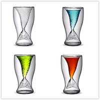 Wholesale Xmas gift Creative fairy tale Crystal Mermaid Shot Glass Vodka Wine Glasses Double Layers Beer Cup with factory price