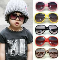 Round mix colors boys girls 2016 new Summer Baby Boys Girls large Sunglasses anti uv Kids sun protecting Glasses for Children Free shipping