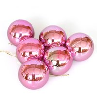 Wholesale Christmas tree ornaments cm Christmas balls electroplating plastic balls items in per