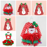 Leggings & Tights Girl Spring / Autumn Girls christmas dress babies clothes kids holiday clothes children dresses for girl Santa Claus snowman printed child infant lace tutu skirt