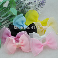 Wholesale 100 U pick Fancy Organza ribbon bow wedding baby doll appliques A003