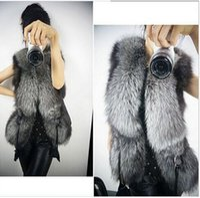 Wholesale Girls Women Warm Faux Fur Vest Outerwear Coat Jacket waistcoat Tops S XL For WOMAN
