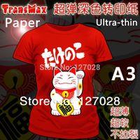 Wholesale A3 Dark Transmax Paper T shirt Transfer Paper Super Soft Ultra Thin Heat Transfer Paper