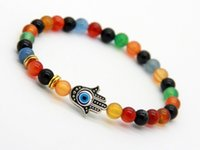 big ring sale - New Arrival Big Sale Exquisite Agate Hamsa Bracelet Protection Ethic Jewelry for Men and Women s Gift Party