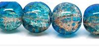 aqua coffee - 2 Strands Aqua Blue Coffee Crackle Glass Beads mm fits jewelry bracelet bangle making decoration Z965