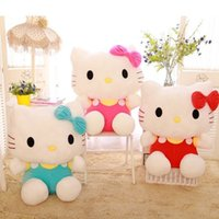 Unisex big baby birth - Hot Sale Anime Cat Helllo Kitty Plush Toys Big Size CM Classic Toys Brand Toys Soft Doll Baby Kids Toys For Christmas Gift