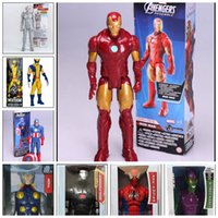 Wholesale 2015 The Avengers action figure Marvel spiderman iron man caption america darth vader green goblin kids toys dolls J061702