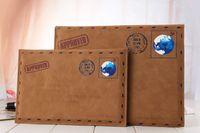 apple portfolio - Luxury Business Brown Envelope Pattern PU Leather Portfolio Case Cover For Apple iPad
