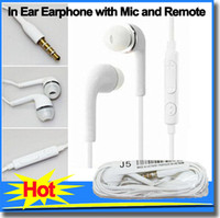 Wholesale Earphone Headphones with Mic and Remote Volume Control Stereo In Ear Headset for Samsung head phones Galaxy S4 Note