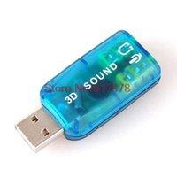 Wholesale 100Pcs D USB Sound Card Mic Speaker Extenal Sound Card Audio Adapter Virtual Channel for PC Laptop Free by DHL
