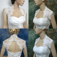 Wholesale 2015 Exquisite Lace Wedding Bridal Bolero Jackets High Neck Sleeveless Wrap White Chinese Bridal Jacket Wraps Cheap