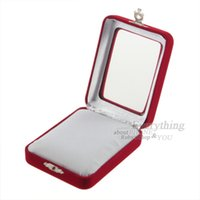 beautiful jewellery boxes - Beautiful and exquisite designed Red Velvet Package Box For Jewellery Gift Brand New Hot Selling