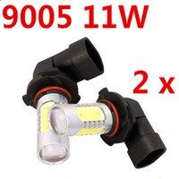 Wholesale 2X W Led Car Fog Light COB with Lens Super Bright Car Led Auto Day Running Parking Bulb Lamp xenon V White