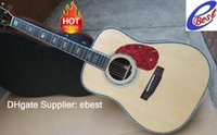 Wholesale 2015 Brand Acoustic guitar D Dreadnought natural Solid spruce Guitar