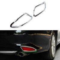 Wholesale 2Pcs Set Car Styling Rear Tail Fog Light Lamp Frame Cover Trim Exterior Decorative Accessories ABS Chrome For Toyota Camry
