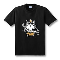 baphomet shirt - Satanic Goat Baphomet cartoon T Shirt Men cotton short sleeve Printed T shirt Brand tshirt new